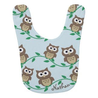 Cute Owls Baby Bib $21.10