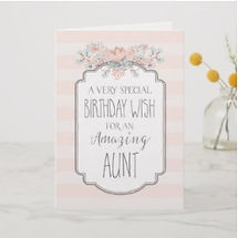 elegant birthday wish aunt card