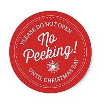 no peeking custom christms gift labels