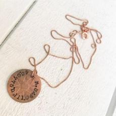 Coordinates Necklace $54