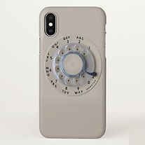 pink retro rotary dial phone iphone case