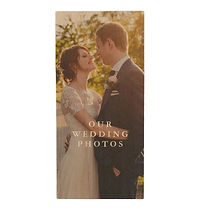 custom couples wedding photo wood flash drive