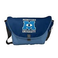 monsters university blue kids messenger bag