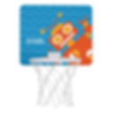 orange robot personalised kids mini basketball hoop