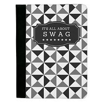 all about swag funny mens padfolio geometric pattern