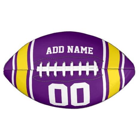 Purple Name Football $59.95