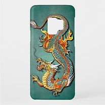 vintage chinese fire dragon samsung case