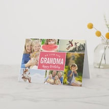 custom photo collage happy birthday grandma card