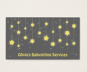 Babysitting Services Business Card