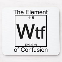 wtf funny element of confusion mouse pad