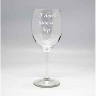 Etched Wine Glass $17.99
