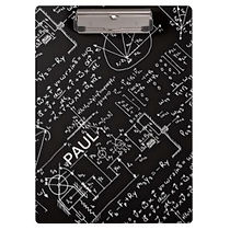 geeky math equations pattern personalised clipboard