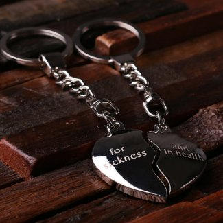 Split Heart Keychain $15.99