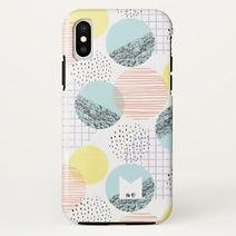 modern pastel circles geometric iphone case