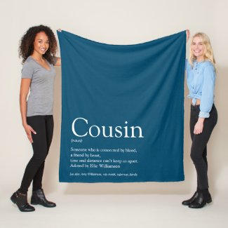 Cousin Blue Blanket $58