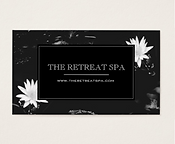 Elegant Water Lily Spa Business Card