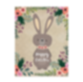 cute bunny happy easter card