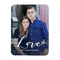 personalised couples photo love flexi magnet