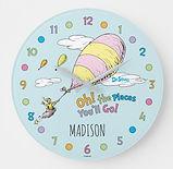 dr seuss personalised nursery clock