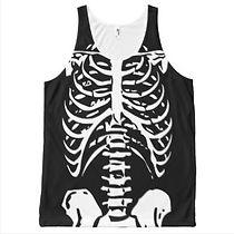 skeleton x-ray halloween tank top