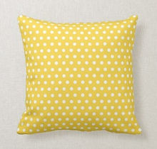 bright yellow dotty throw pillow