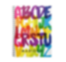 colorful watercolor alphabet personalised kids school notebook