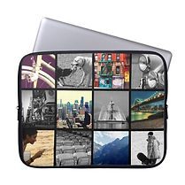 classic custom photo collage laptop sleeve