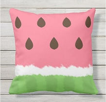 watermelon slice outdoor cushion