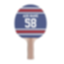 personalised ping pong bat with sport jersey number