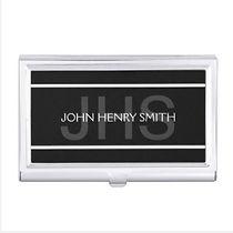 personalised trendy monogram business card holder