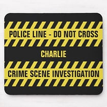 crime scene ribbon funny mens personalised mouse pad