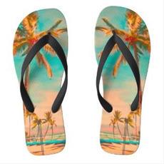Palm Tree Flip Flops $32.90