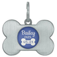 CUSTOM DOG TAG BONE SHAPE
