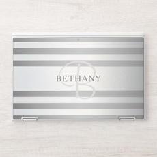 Elegant Silver Grey Stripes
