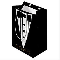 elegant tuxedo personalised mens gift bag