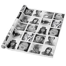 classic custom photo collage wrappin paper