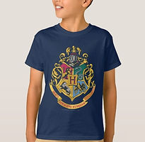 Kids Harry Potter Hogwarts Crest Brand Shirt