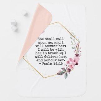 Psalm 91 Baby Blanket $44.65