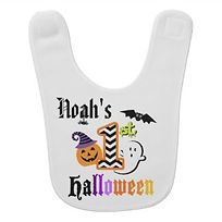 baby's personalised first halloween bib