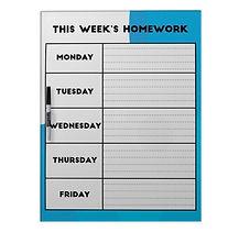 Homework Organiser Dry Erase Board