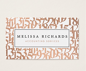 Elegant Accounting Business Cards