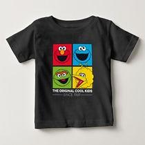 sesame street characters baby shirt