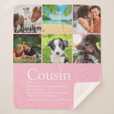 Cousin Photo Blanket $73.84