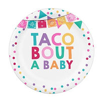 taco festive baby shower party plate
