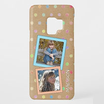 custom photo and dotty pattern samsung case