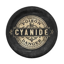 danger cyanide poison halloween party plates