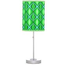 green retro pattern table lamp