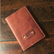 Leather Passport Holder $35