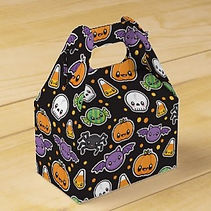 kids halloween treats and candy favor boxes