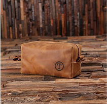 mens leather monogrammed toiletry bag